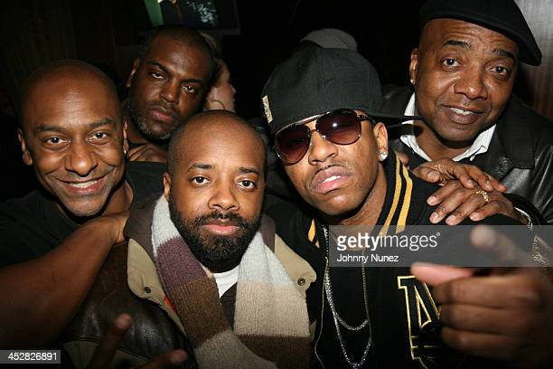 Stephen Hill guest Jermaine Dupri Rocko and Michael Mauldin attend Rocko's SelfMade album release party at Room Service March 17 2008 in New York City