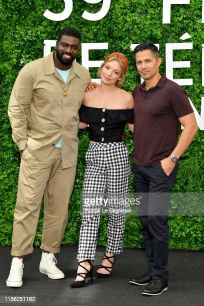 Stephen Hill Perdita Weeks and Jay Hernandez from the TV series Magnum PI attend the 59th Monte Carlo TV Festival Day Three on June 16 2019 in...