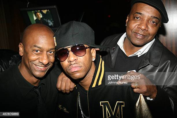 Stephen Hill Rocko and Michael Mauldin attend Rocko's SelfMade album release party at Room Service March 17 2008 in New York City