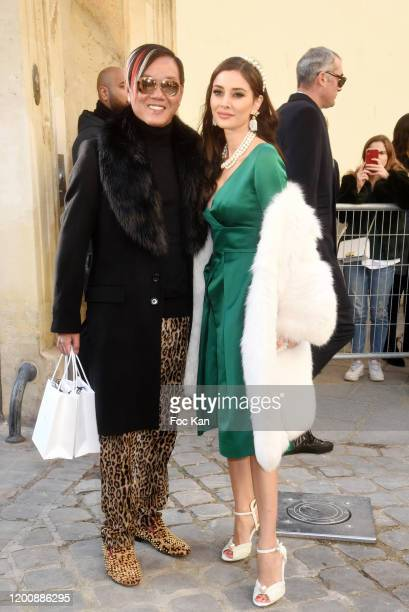 Stephen Hung and Deborah Hung attend the Dior Haute Couture Spring/Summer 2020 show as part of Paris Fashion Week on January 20 2020 in Paris France