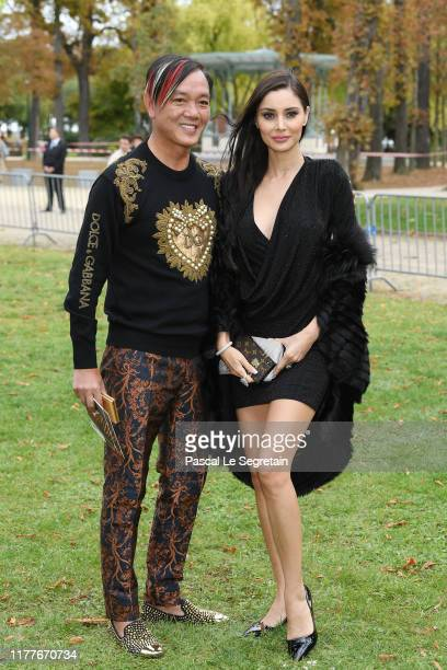 Stephen Hung and Deborah Hung attend the Elie Saab Womenswear Spring/Summer 2020 show as part of Paris Fashion Week on September 28 2019 in Paris...