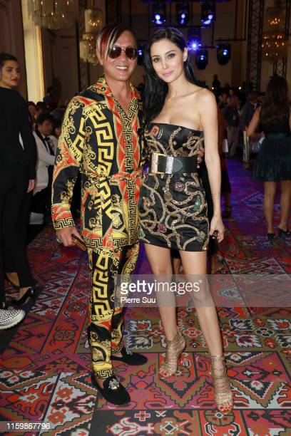 Stephen Hung and Deborah Hung attends the Zuhair Murad Haute Couture Fall/Winter 2019 2020 show as part of Paris Fashion Week on July 03 2019 in...
