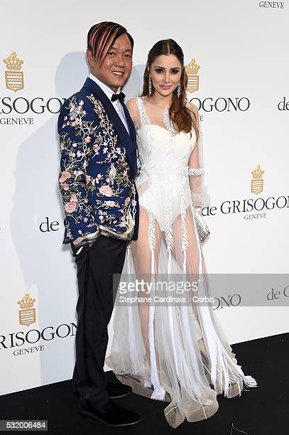 Stephen Hung and Deborah Valdez Hung attends the De Grisogono Party during the annual 69th Cannes Film Festival at Hotel du CapEdenRoc on May 17 2016...