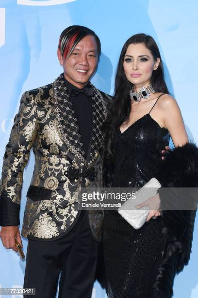 Stephen Hung and Deborah Valdez-Hung attend the Gala for the Global Ocean hosted by H.S.H. Prince Albert II of Monaco at Opera of Monte-Carlo on...