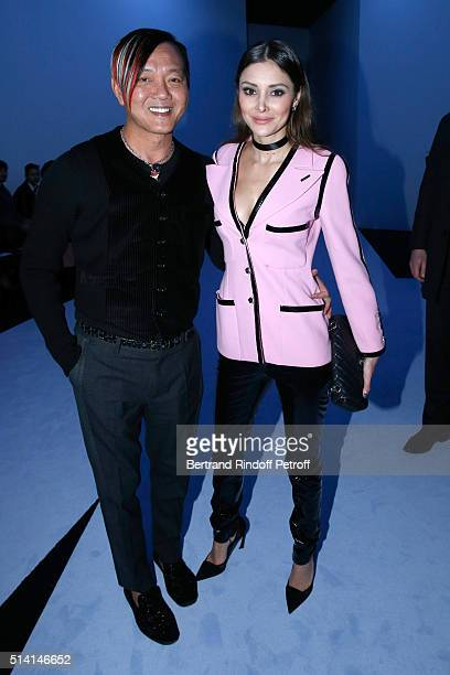 Stephen Hung and his wife Deborah attend the Giambattista Valli show as part of the Paris Fashion Week Womenswear Fall/Winter 2016/2017 on March 7...