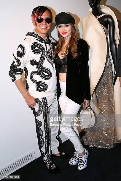 Stephen Hung and his wife Deborah attend the Stephane Rolland show as part of Paris Fashion Week Haute Couture Fall/Winter 2015/2016 on July 7 2015...