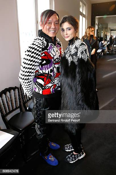Stephen Hung and his wife Deborah attends the Stephane Rolland Spring Summer 2016 show as part of Paris Fashion Week on January 26 2016 in Paris...