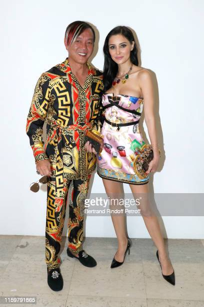 Stephen Hung and his wife Deborah Hung attend the Elie Saab Haute Couture Fall/Winter 2019 2020 show as part of Paris Fashion Week on July 03 2019 in...