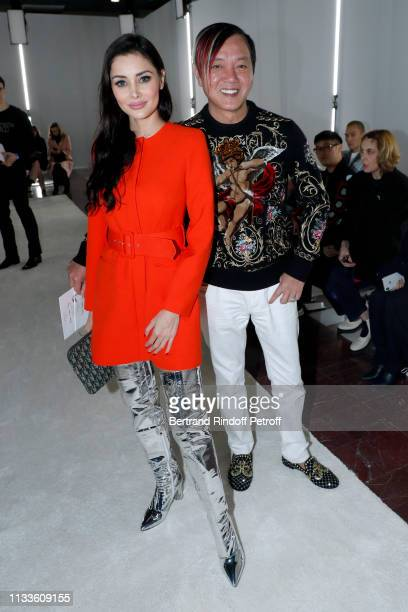 Stephen Hung and his wife Deborah Hung attend the Giambattista Valli show as part of the Paris Fashion Week Womenswear Fall/Winter 2019/2020 on March...