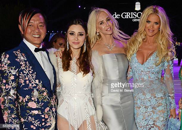 Stephen Hung Deborah Valdez Hung Amanda Cronin and Victoria Silvstedt attend the de Grisogono party during the 69th Cannes Film Festival at Hotel du...