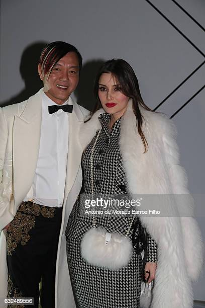 Stephen Hung Deborah ValdezHung attend the RalphRusso Haute Couture Spring Summer 2017 show as part of Paris Fashion Week on January 23 2017 in Paris...