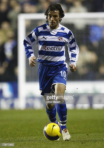 Stephen Hunt of Reading in action during the Barclays Premiership match between Reading and Everton at the Madejski Stadium on December 23 2006 in...