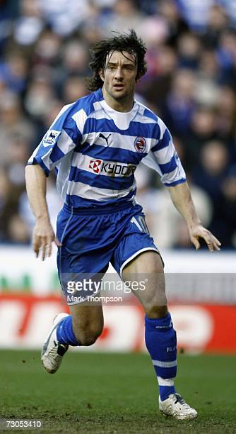 Stephen Hunt of Reading in action during the Barclays Premiership match between Reading and Sheffield United at the Madejski Stadium on January 20,...