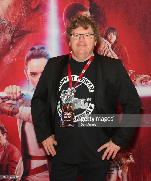 Stephen Hunter attends Star Wars The Last Jedi Sydney Screening Event on December 13 2017 in Sydney Australia