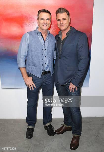Stephen Huvane and Steven Janssen attend Steven Janssen's Brain Change art exhibition at De Re Gallery on November 17 2015 in West Hollywood...