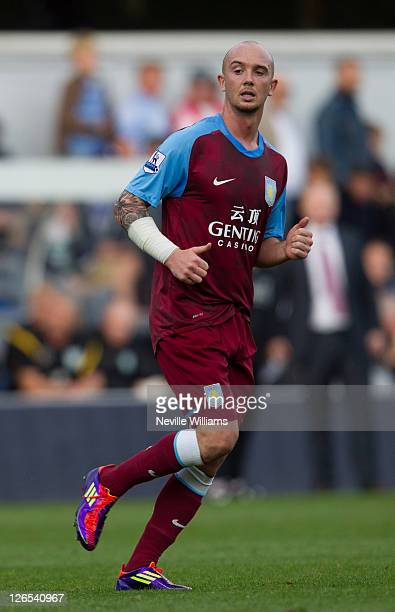 Stephen Ireland of Aston Villa during the Barclays Premier League match between Queens Park Rangers and Aston Villa at Loftus Road on September 25...