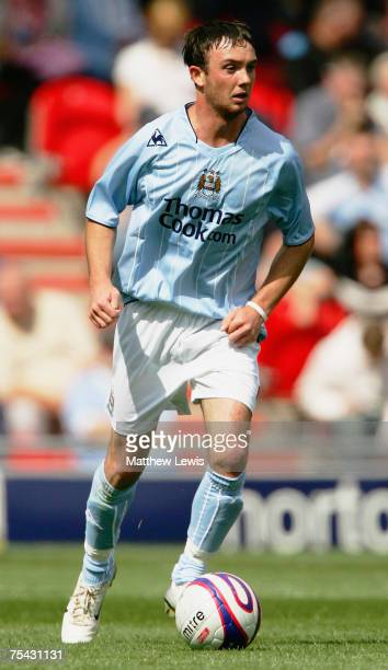 Stephen Ireland of Manchester City in action during the Pre-Season Friendly match between Doncaster Rovers and Manchester City at the Keepmoat...