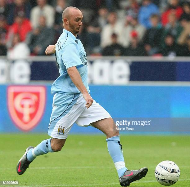 Stephen Ireland of Manchester City in action during the UEFA Cup 2nd qualifying round second leg match between Midtjylland and Manchester City at the...