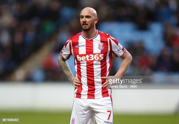 Stephen Ireland of Stoke City during The Emirates FA Cup Third match between Coventry City and Stoke City at Ricoh Arena on January 6 2018 in...