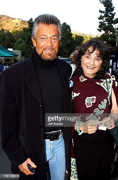 Stephen J Cannell and wife Marcia during HBO's Band of Brothers Hollywood Premiere at Hollywood Bowl in Hollywood California United States