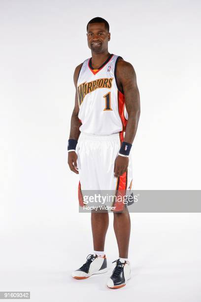 Stephen Jackson of the Golden State Warriors poses for a portrait during 2009 NBA Media Day on September 28 2009 at Oracle Arena in Oakland...
