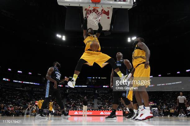 Stephen Jackson of the Killer 3s dunks the ball during the BIG3 Playoffs at Smoothie King Center on August 25, 2019 in New Orleans, Louisiana.