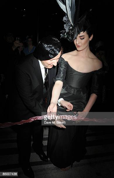 ece02542b69 Stephen Jones and Erin O Connor attend the party for Hats An Anthology By  Stephen