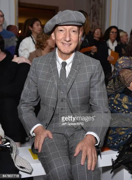 Stephen Jones attends the Jasper Conran show during London Fashion Week September 2017 on September 16 2017 in London England