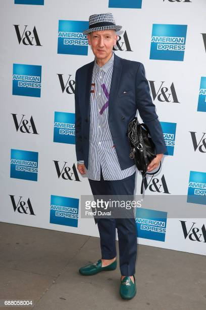 Stephen Jones attends The VA Opens Spring 2017 Fashion Exhibition Balenciaga Shaping Fashion at The VA on May 24 2017 in London England