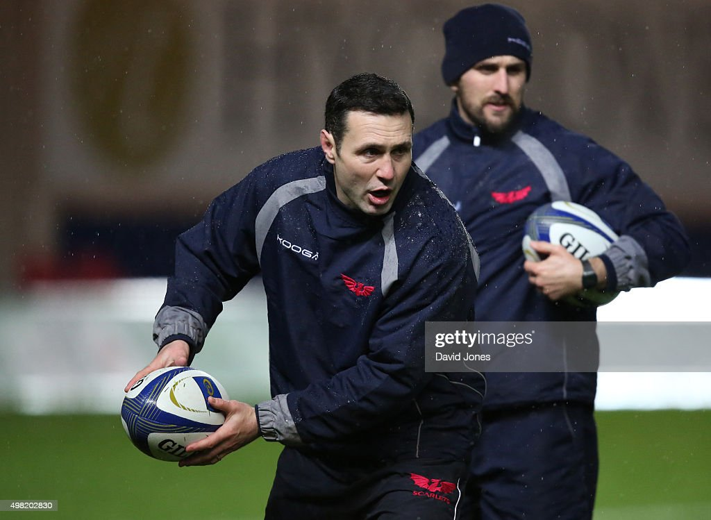 Stephen Jones, Backs Coach of Scarlets before the European Rugby Champions Cup match between Scarlets and Racing 92 at the Parc y Scarlets on November 21, 2015 in Llanelli, Wales.