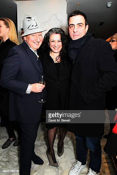 Stephen Jones Sophia Neophitou Antonio Berardi attends the AnOther Magazine Spring/Summer 2015 launch party celebrating the present past and future...