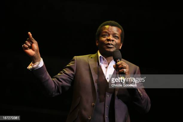 Stephen K Amos performs on stage as part of the The Prince's Trust comedy gala We Are Most Amused at Royal Albert Hall on November 28 2012 in London...