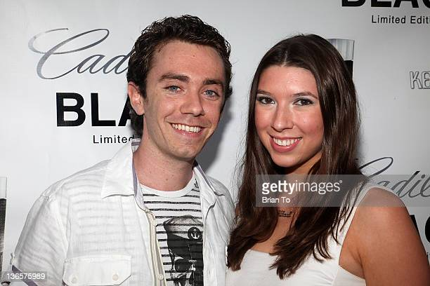 Stephen Katz and Alicia Sikorski attend Cadillac fragrance celebrity white party introducing Kenneth Monroe at Style Lounge on June 29 2010 in Studio...