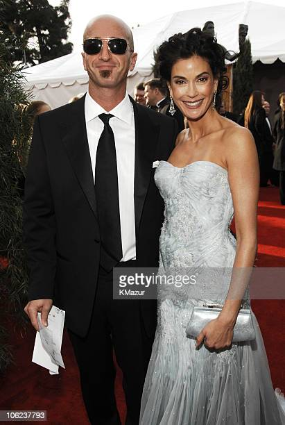 Stephen Kay and Teri Hatcher 12864_KM_0376JPG during TNT/TBS Broadcasts 13th Annual Screen Actors Guild Awards Red Carpet at Shrine Auditorium in Los...