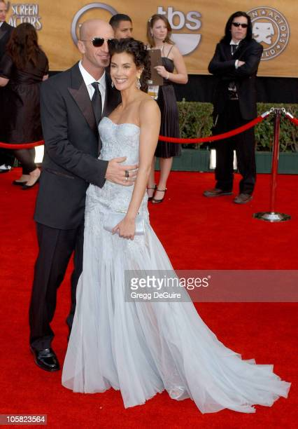 Stephen Kay and Teri Hatcher during 13th Annual Screen Actors Guild Awards Arrivals at Shrine Auditorium in Los Angeles California United States