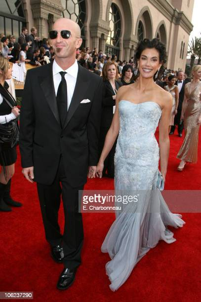 Stephen Kay and Teri Hatcher during 13th Annual Screen Actors Guild Awards Red Carpet at Shrine Auditorium in Los Angeles California United States