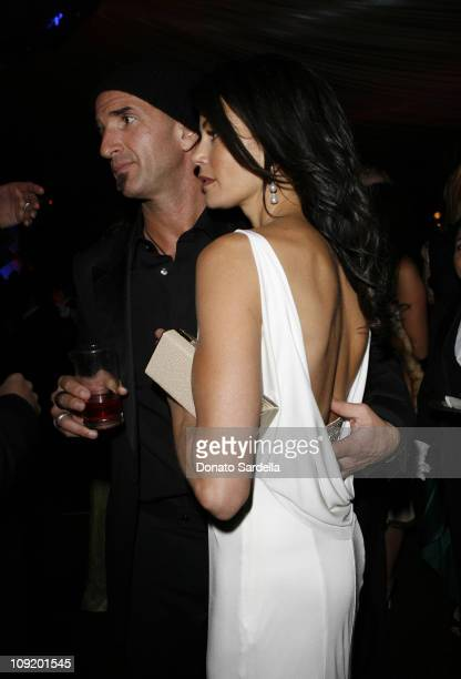Stephen Kay and Teri Hatcher during In Style and Warner Bros 2007 Golden Globe After Party Inside at Beverly Hilton Hotel in Beverly Hills California...