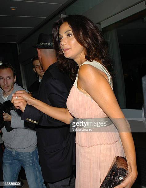 Stephen Kay and Teri Hatcher during Teri Hatcher Sighting at the Sanderson Hotel in London June 4 2007 at Sanderson Hotel in London Great Britain
