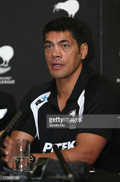 Stephen Kearney head coach of the Kiwi's announces the new assistant coach during a New Zealand Kiwis press conference at New Zealand Rugby League...