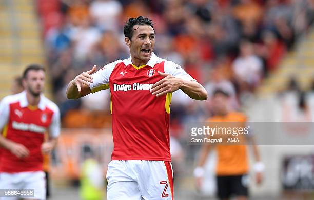 Stephen Kelly of Rotherham United during the Sky Bet Championship match between Rotherham United v Wolverhampton Wanderers at The New York Stadium on...