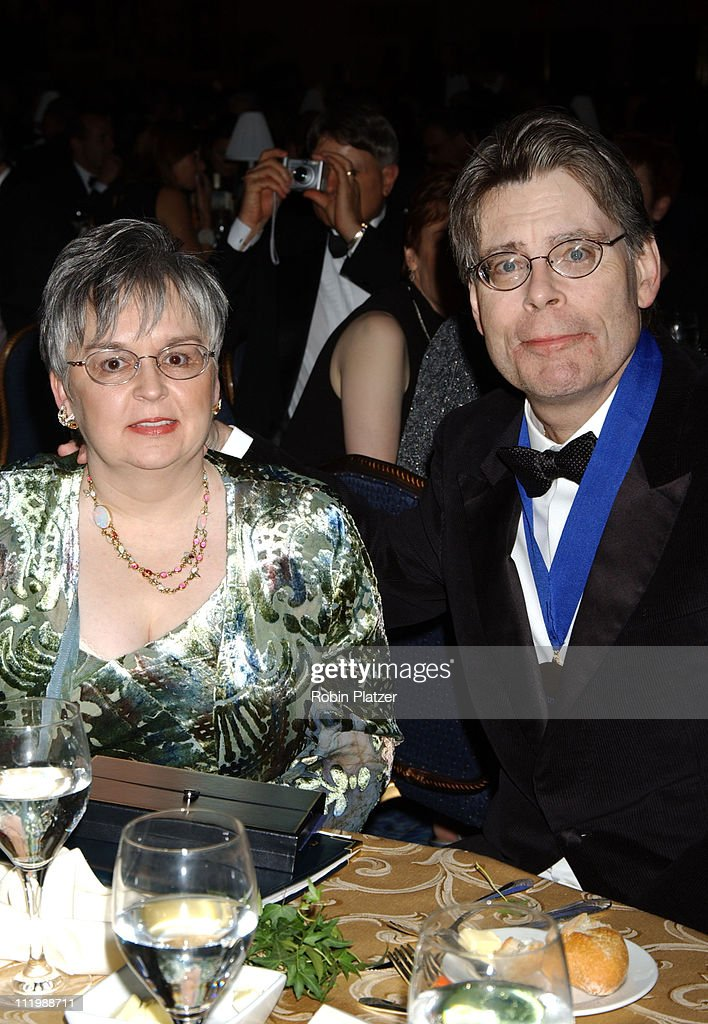 Stephen King (right) and wife Tabitha King during The 54th Annual National Book Awards Ceremony and Benefit Dinner at The Marriott Marquis Hotel in New York City, New York, United States.