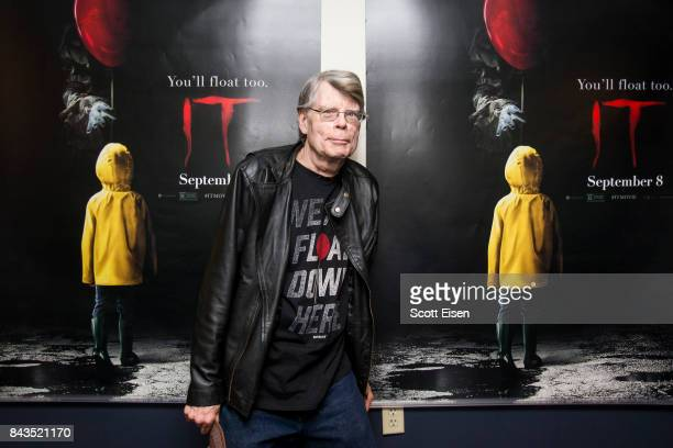 Stephen King attends a special screening of 'IT' at Bangor Mall Cinemas 10 on September 6 2017 in Bangor Maine