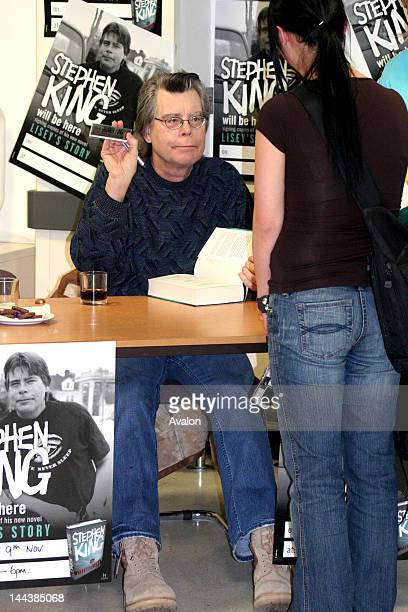 Stephen King during the popular booksigning event at Asda supermarket in Watford England Hundreds of people came some from far away and some waited...