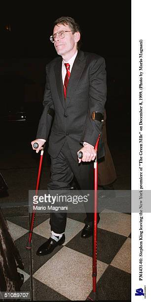 Stephen King Leaves The New York Premiere Of The Green Mile On December 8 1999 In New York City