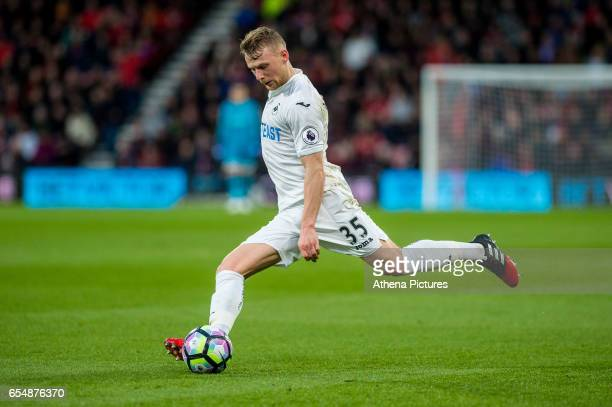 Stephen Kingsley of Swansea City in action during the Premier League match between AFC Bournemouth and Swansea City at Vitality Stadium on March 18...