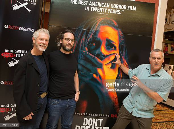 Stephen Lang, Director Fede Alvarez, and Bruce Campbell attend the DON'T BREATH Screening at Bruce Campbell Horror Film Festival on August 18, 2016...
