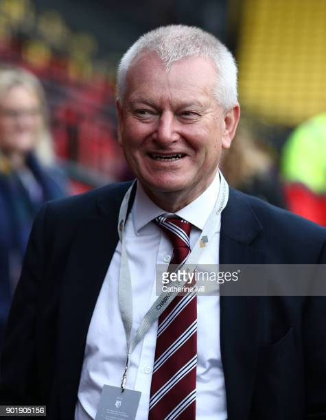 Stephen Lansdown majority shareholder / owner of Bristol City during the Emirates FA Cup Third Round match between Watford and Bristol City at...