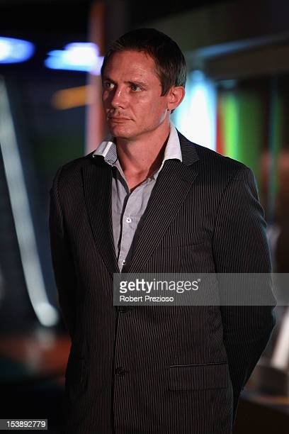 Stephen Larkham former Rugby Union player looks on during the Sport Australia Hall of Fame Media Opportunity at Melbourne Cricket Ground on October...