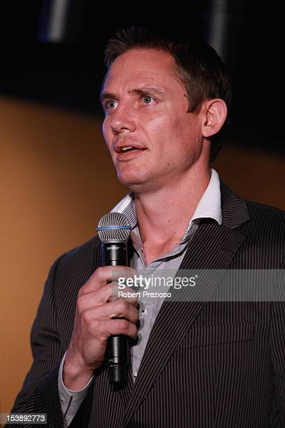 Stephen Larkham former Rugby Union player speaks to the media during the Sport Australia Hall of Fame Media Opportunity at Melbourne Cricket Ground...