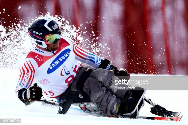 Stephen Lawler of the United States competes in the Men's Sitting Giant Slalom at Jeongseon Alpine Centre on Day 5 of the PyeongChang 2018 Paralympic...